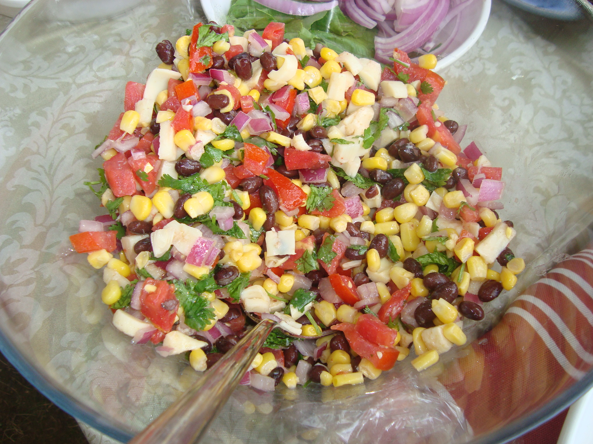 Black Bean, Corn & Hearts of Palm Salad | Mango-Flavored Life